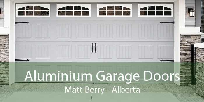 Aluminium Garage Doors Matt Berry - Alberta