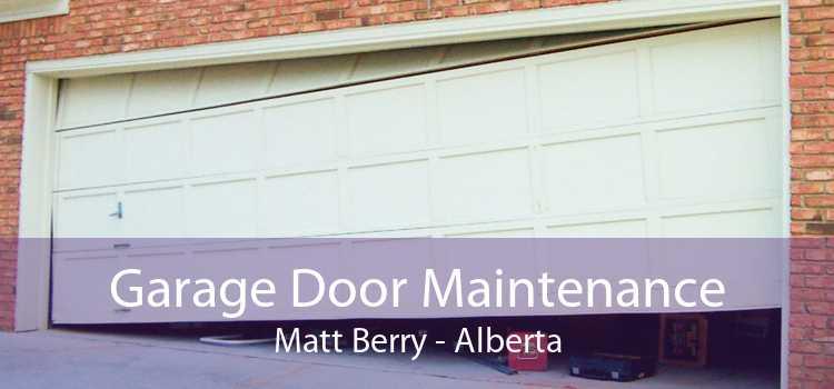 Garage Door Maintenance Matt Berry - Alberta