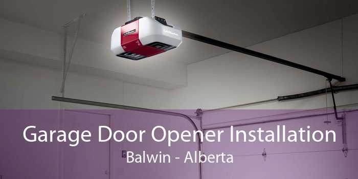 Garage Door Opener Installation Balwin - Alberta